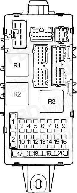 96-'05 mitsubishi magna, diamante & verada fuse diagram  knigaproavto.ru
