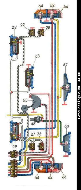 Схемы электрооборудования ВАЗ 21011