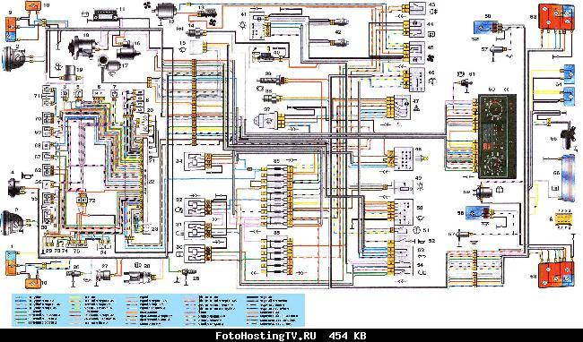Схема электрооборудования автомобиля ВАЗ 21214