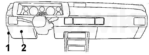'83-'89 Mitsubishi Starion & Dodge/Plymouth/Chrysler Conquest Fuse Diagram