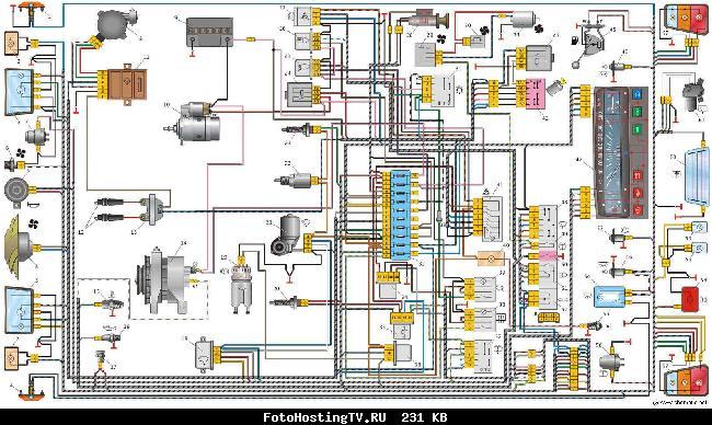 схема Оки (щиток 2101) Схема