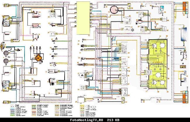 Схема электрооборудования автомобиля ВАЗ 2107