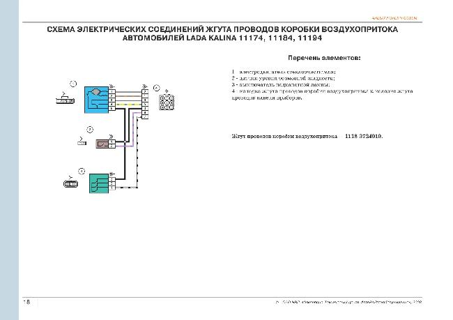Схема заземления калина