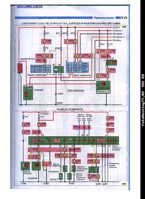электросхемы Lanos 1,4i