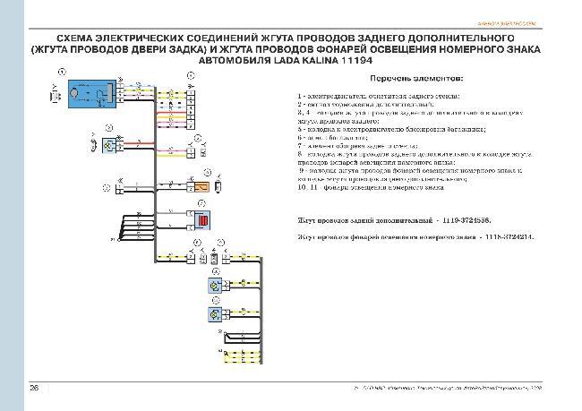 Работа с электрической схемой калина