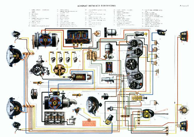 Схема электрооборудования автомобиля ГАЗ 69 / 67