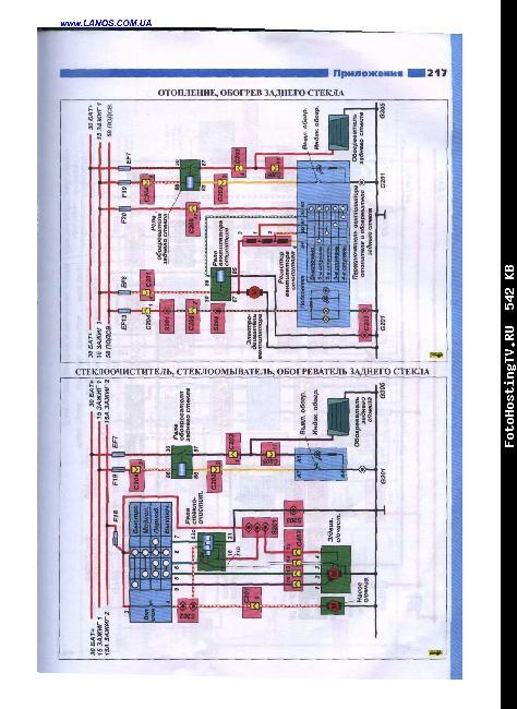 Цветные электросхемы Lanos 1,4i / ZAZ Sens 1,3i
