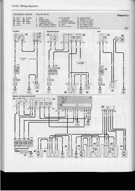 цветная схема электрооборудования мазда 626.