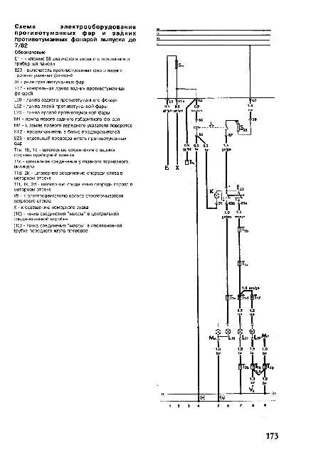 Схемы электрических соединений автомобилей Volkswagen Golf I / Jetta