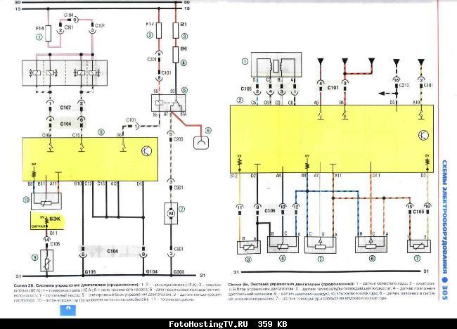Цветные электросхемы Lanos 1.5 с 2004г