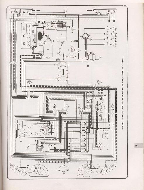 Схема электрооборудования автомобиля Volkswagen Transporter T2 1968-1976