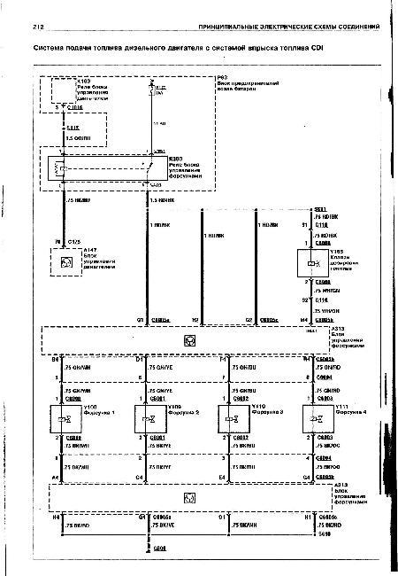 Принципиальные электрические схемы FORD TRANSIT с 2000
