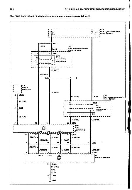 Кликните на картинку, чтобы увидеть полноразмерную версию.  Скачать Принципиальные электрические схемы FORD TRANSIT с...