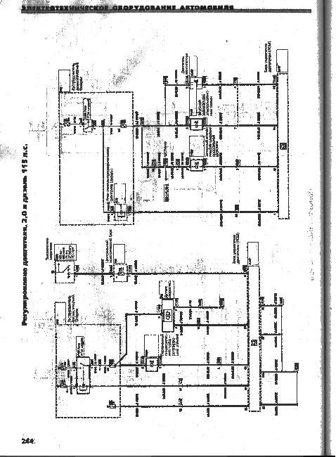 Электрические принципиальные схемы Форд Мондео 93 - 96.