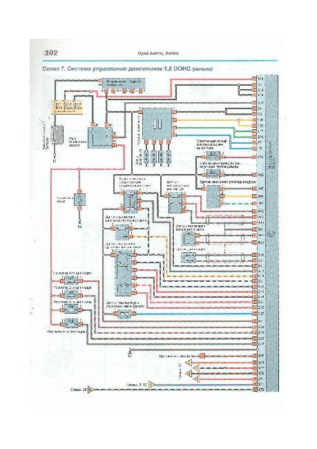 Цветные схемы электрооборудования OPEL ZAFIRA A / ASTRA G 1998-2006