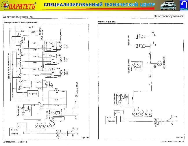 Схемы электрооборудования SSANG YONG MUSSO / TAGAZ ROAD PARTNER с 1994 и с 2000