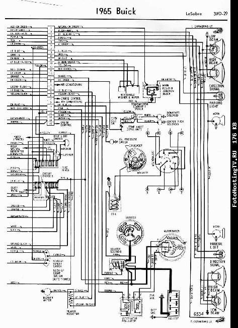 Схемы электрооборудования Buick LeSabre 1965г