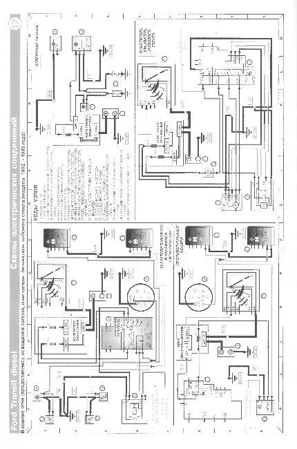 Схемы электрооборудования дизельного Ford Transit 1986-2000г
