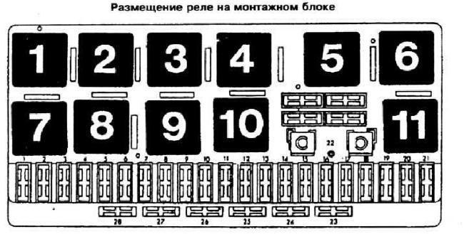 Реле и предохранители AUDI 80