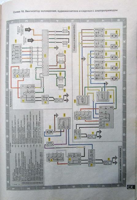 Схемы электрооборудования CITROEN ХМ 1989-2000