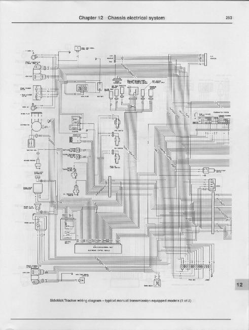 Схемы электрооборудования Suzuki Samurai / Sidekick / Geo Tracker