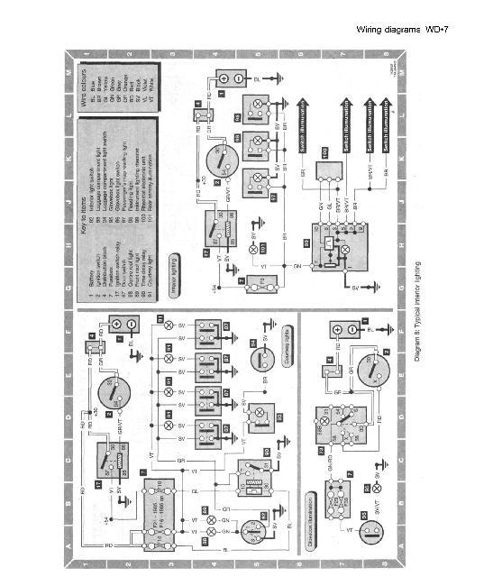 Saab 9000 электрическая схема.
