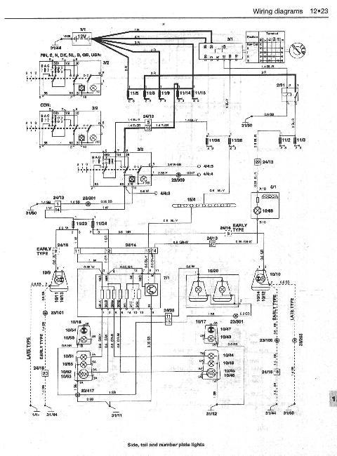 електро схема вольво 940