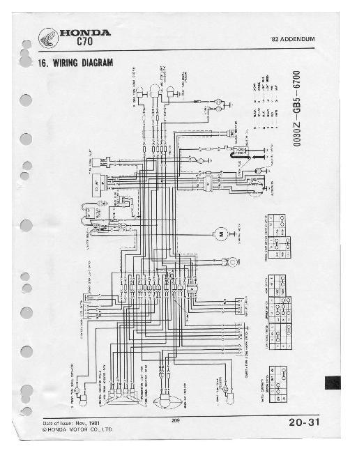 Схемы электрооборудования скутера Honda Super Cub
