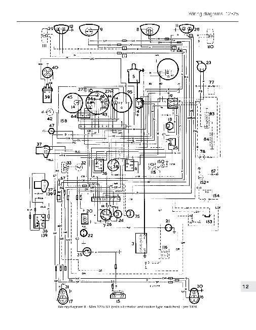 Схемы электрооборудования Mini 1969 - 2001