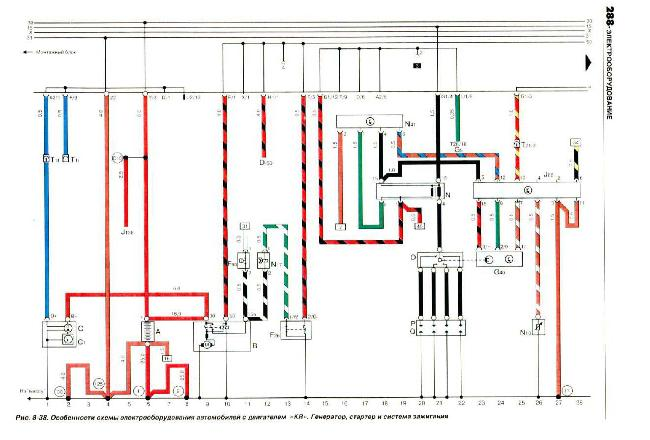 Электрические схемы VOLKSWAGEN PASSAT B3 с 1988-1996 (бензин 1,6, 1,8, 2,0, и дизель 1,6, 1,8 л)
