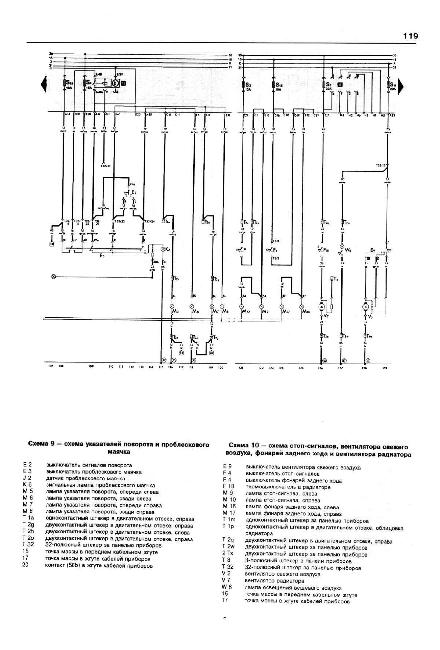 Схема проводки wv golf 3.