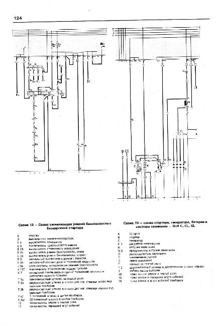 Схема электрооборудования гольф 2 бензин