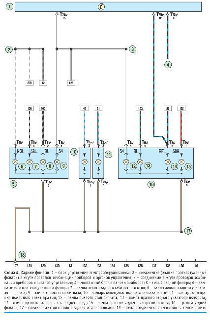 Цветные схемы электрооборудования автомобиля VOLKSWAGEN POLO с 2010