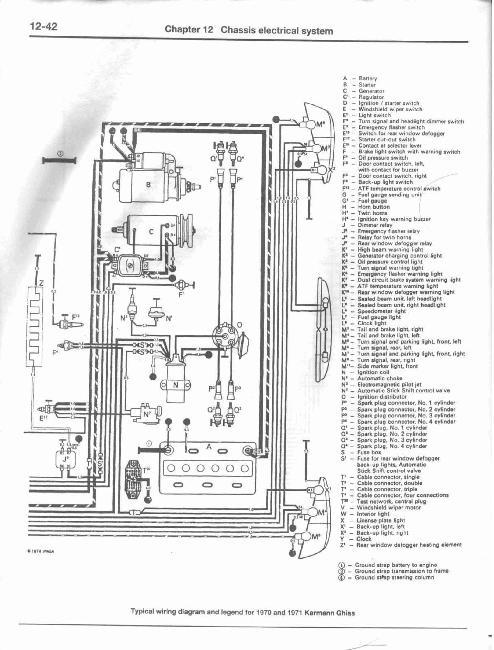 Схемы электрооборудования Volkswagen Beetle / Karmann Ghia с 1954-1979