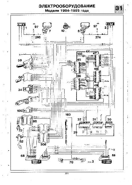 Схемы электрооборудования Renault Trafic с 1983 года