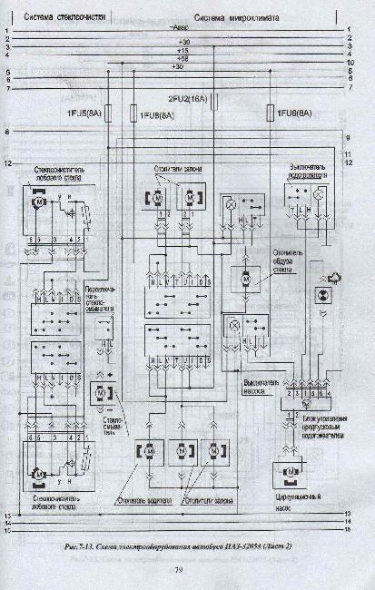 ПАЗ 32053 Схемы
