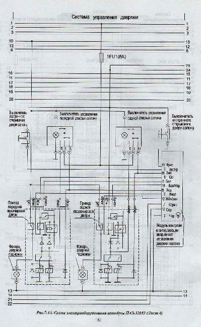 Схемы электрооборудования ПАЗ