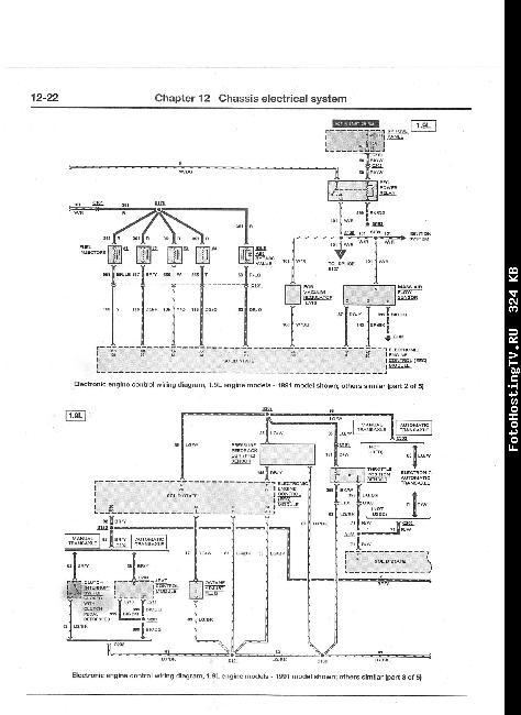Схемы электрооборудования Ford Escort & Mercury Traser 1991-2000