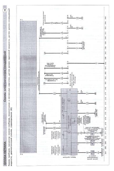 Схемы электрооборудования Skoda Octavia 1996-2002