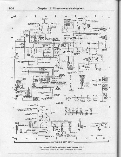 Схемы электрооборудования Ford F-100, F-150, F-250, F-350 и Bronco с 1980-1996