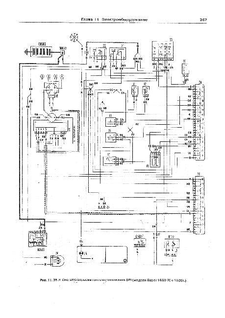 Схемы электрооборудования Fiat Ritmo / Strada / Regata с 1979, (1.1, 1.3, 1.5, 1.6, 2.0)