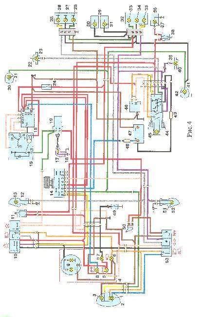 Схемы электрооборудования мотоцикла ИЖ 6.92 ОГР с двигателем П5