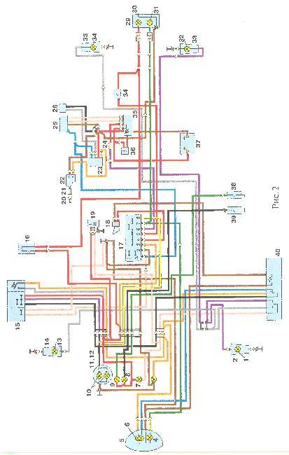 Электрическая схема мотоцикла ИЖ 7.107 (Планета 5)(электронная система зажигания)