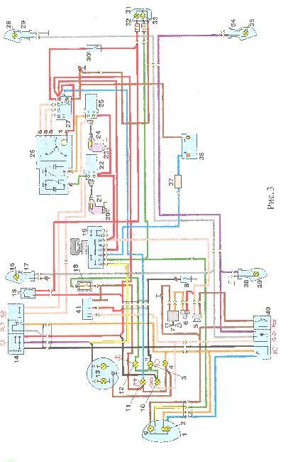 Электрическая схема мотоцикла