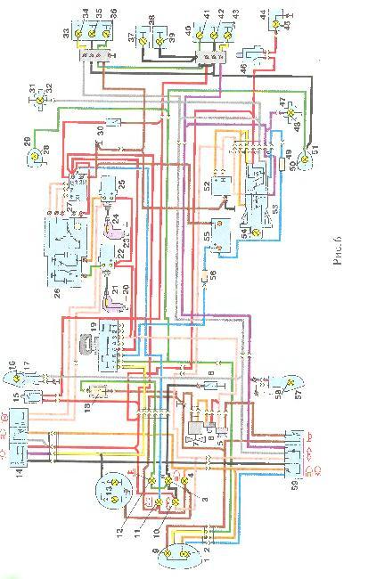 Электрическая схема мотоцикла ИЖ 6920 с двигателем Ю5 Сб1.-08.10