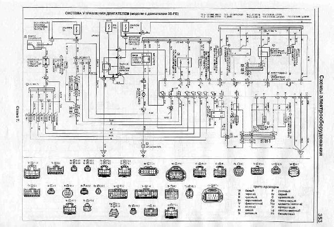 Схемы электрооборудования Toyota Caldina 1997-2002 гг