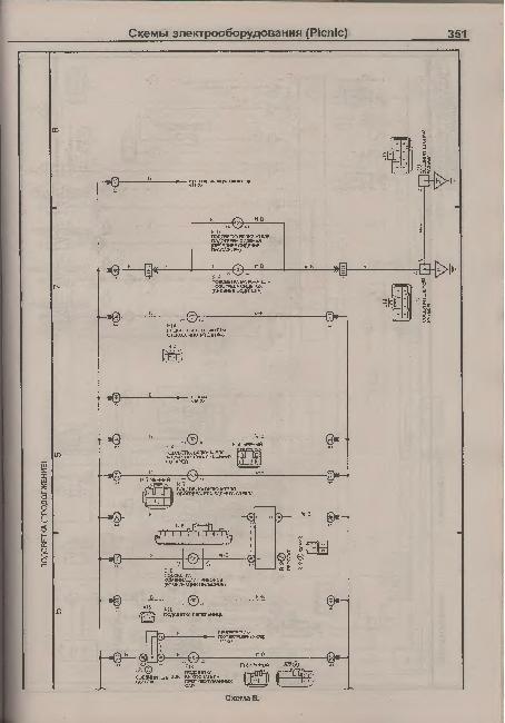 Электрические схемы TOYOTA PICNIC / IPSUM 1996-2001