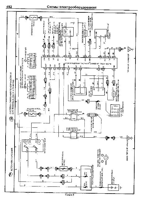 Схема предохранителей на тойоте спринтер