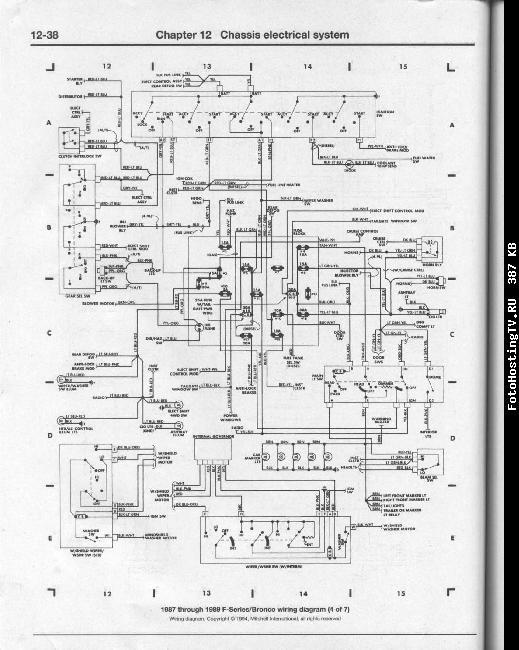 Схемы электрооборудования Ford pickups / Bronco 1980-1995