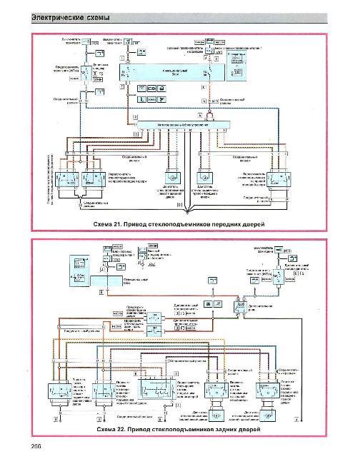 Цветные схемы электрооборудования Alfa Romeo 156 с 1997 по 2003